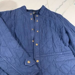 Womens burberry coat jacket royal blue